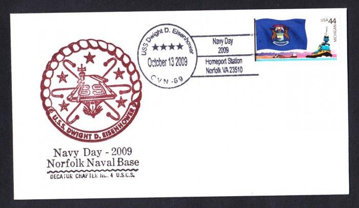 USS EISENHOWER CVN-69 Navy Day Naval Cover