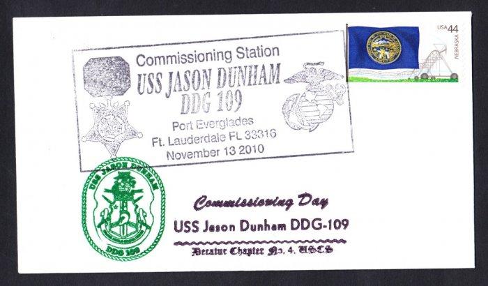 USS JASON DUNHAM DDG-109 Commissioning Naval Cover