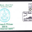 USS JAMES E. WILLIAMS DDG-95 Fleet Week New York Naval Cover