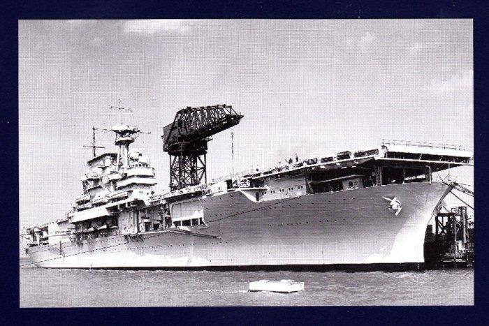 USS YORKTOWN CV-5 Aircraft Carrier Navy Ship Postcard