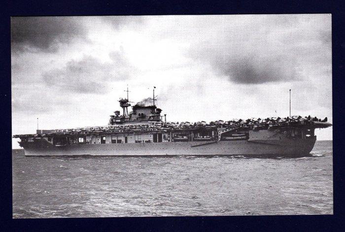 USS ENTERPRISE CV-6 Aircraft Carrier Navy Ship Postcard