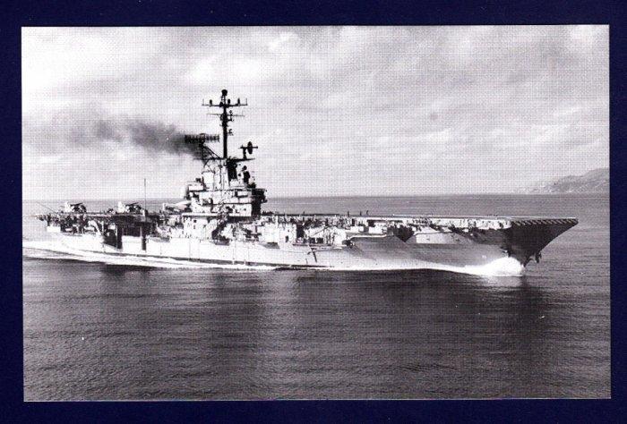 USS BENNINGTON CVS-20 Aircraft Carrier Navy Ship Postcard