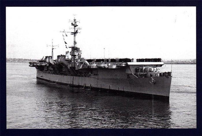 USS BATAAN CVL-29 Aircraft Carrier Navy Ship Postcard