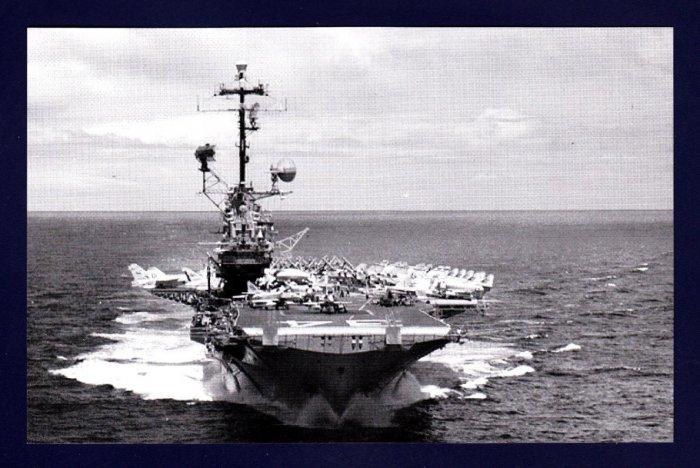 USS ORISKANY CVA-34 Aircraft Carrier Navy Ship Postcard