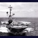 USS ORISKANY CVA-34 Aircraft Carrier Navy Ship Postcard