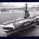 USS LAKE CHAMPLAIN CVA-39 Aircraft Carrier Navy Ship Postcard