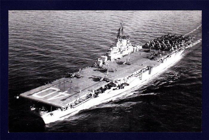 USS TARAWA CVA-40 Aircraft Carrier Navy Ship Postcard