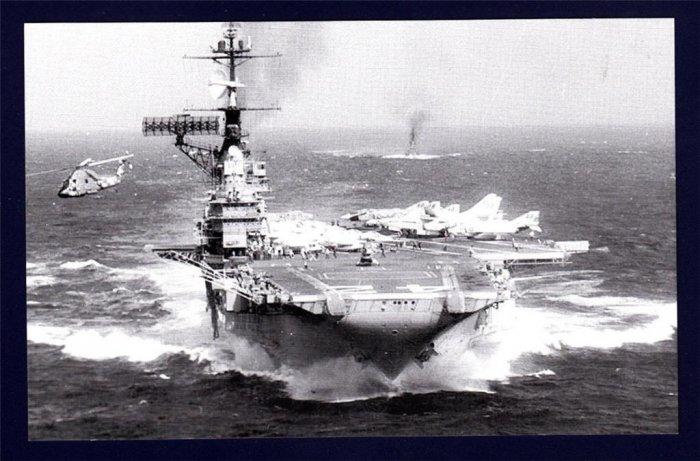 USS FRANKLIN D. ROOSEVELT CVA-42 Aircraft Carrier Navy Ship Postcard