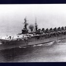 USS WRIGHT CVL-49 Aircraft Carrier Navy Ship Postcard