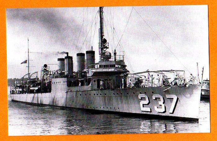 USS McFARLAND DD-237 Destroyer Navy Ship Postcard