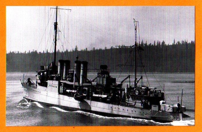 USS RENO DD-303 Destroyer Navy Ship Postcard