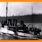 USS RENO DD-303 Destroyer Navy Ship Postcard