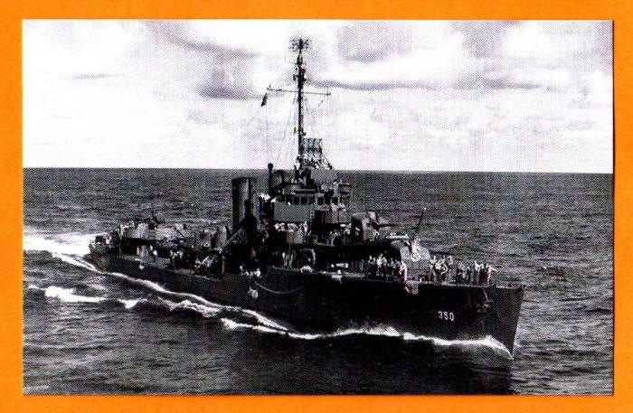 USS HULL DD-350 Destroyer Navy Ship Postcard