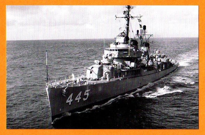 USS FLETCHER DD=445 Destroyer Navy Ship Postcard