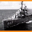 USS FLETCHER DD=445 Destroyer Navy Ship Postcard