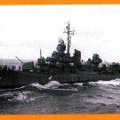 USS STRONG DD-467 Destroyer Navy Ship Postcard