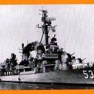 USS MILLER DD-535 Destroyer Navy Ship Postcard