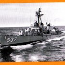 USS THE SULLIVANS DD-537 Destroyer Navy Ship Postcard