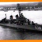 USS STEPHEN POTTER DD-538 Destroyer Navy Ship Postcard
