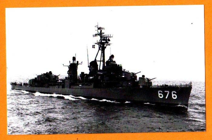 USS MARSHALL DD-676 Destroyer Navy Ship Postcard