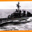 USS ROOKS DD-804 Destroyer Navy Ship Postcard