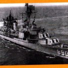 USS MEREDITH DD-890 Destroyer Navy Ship Postcard