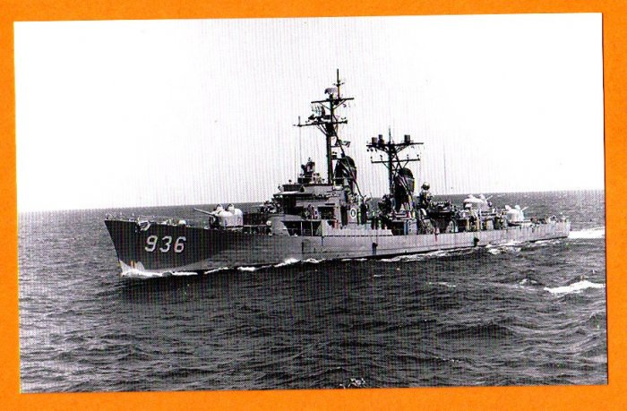 USS DECATUR DD-936 Destroyer Navy Ship Postcard