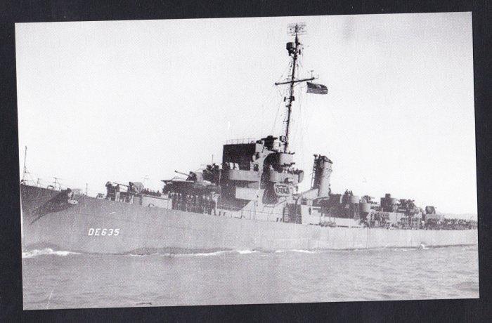USS ENGLAND DE-635 Destroyer Escort Navy Ship Postcard