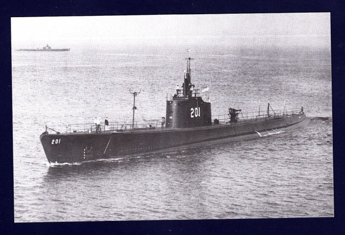 USS TRITON SS-201 Submarine Navy Ship Postcard