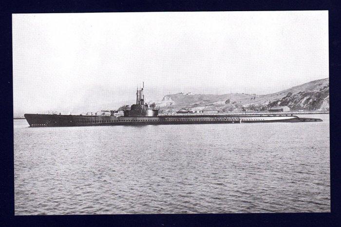 USS TANG SS-306 Submarine Navy Ship Postcard