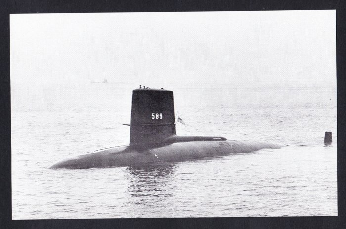 USS SCORPION SSN-589 Submarine Navy Ship Postcard