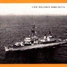 USS WILLIAM R. RUSH DD-714 Destroyer Navy Ship Postcard