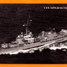 USS KEPPLER DD-765 Destroyer Navy Ship Postcard