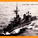 USS FRED T. BERRY DD-858 Destroyer Navy Ship Postcard