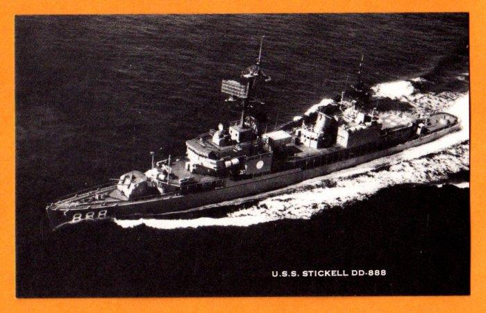 USS STICKELL DD-888 Destroyer Navy Ship Postcard
