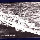 USS LESTER DE-1022 Destroyer Escort Navy Ship Postcard