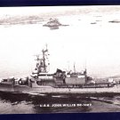 USS JOHN WILLIS DE-1027 Destroyer Escort Navy Ship Postcard