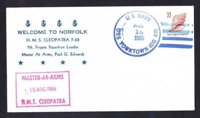 HMS CLEOPATRA F-28 Visit To Norfolk Royal Navy Ship Cover