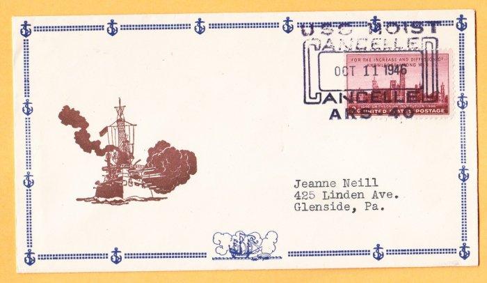 USS HOIST ARS-40 1945 Naval Cover