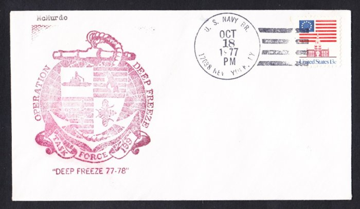 McMURDO STATION ANTARCTICA 1977-78 Operation Deep Freeze Polar Cover