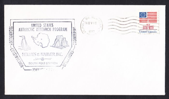 ANTARCTICA RESEARCH PROGRAM Holmers & Narver SOUTH POLE STATION 1977 Polar Cover