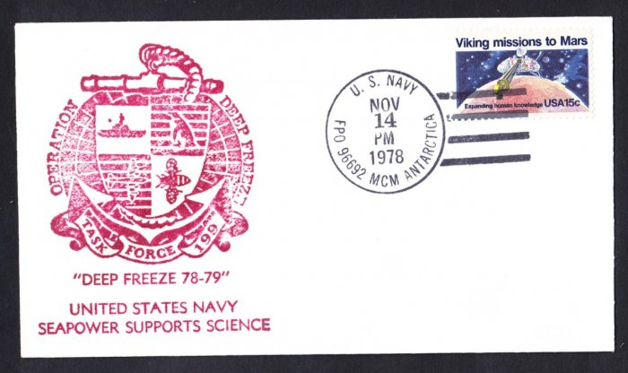 McMURDO STATION ANTARCTICA 1978-79 Operation Deep Freeze Polar Cover