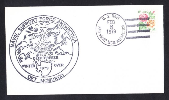 NAVAL SUPPORT FORCE McMURDO STATION ANTARCTICA 1979 Polar Cover