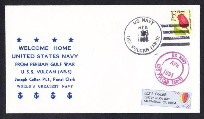 USS VULCAN AR-5 Persian Gulf War Desert Storm Naval Cover