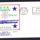 Aircraft Carrier USS CARL VINSON CVN-70 Keel Laying BECK #B1000 Naval Cover