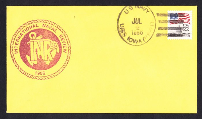 USS IOWA BB-61 International Naval Review Naval Cover