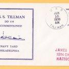 USS TILLMAN DD-135 Decommissioning 1939 Naval Cover
