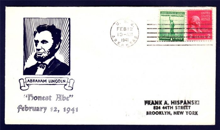 USS ARKANSAS BB-33 Lincoln's Birthday 1941 Naval Cover