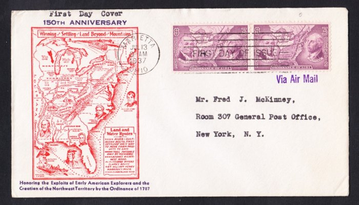 #795 NORTHWEST TERRITORY Stamp FDC