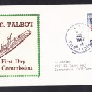 Guided Missile Escort USS TALBOT DEG-4 Commissioning BECK #B724 Naval Cover